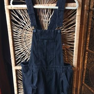 DOLLHOUSE Distressed Black Overalls NWT Size 11